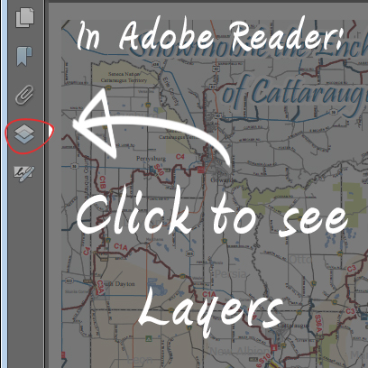 In Adobe Reader click this button to see Layers