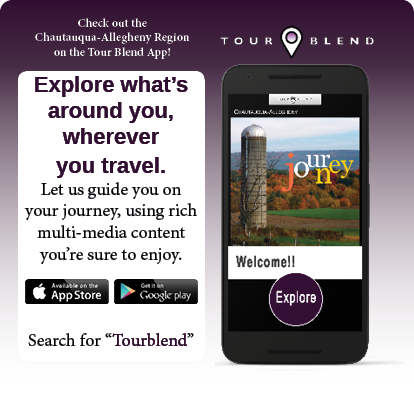 Check out the Chautauqua-Allegheny Region on the Tour Blend app!