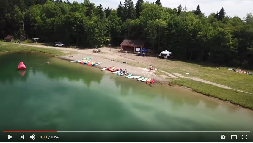 Adventure Bound onthefly SUP classes at Spruce Lake