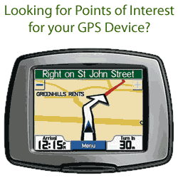 Ad Looking for Points of Interest for your GPS Device?