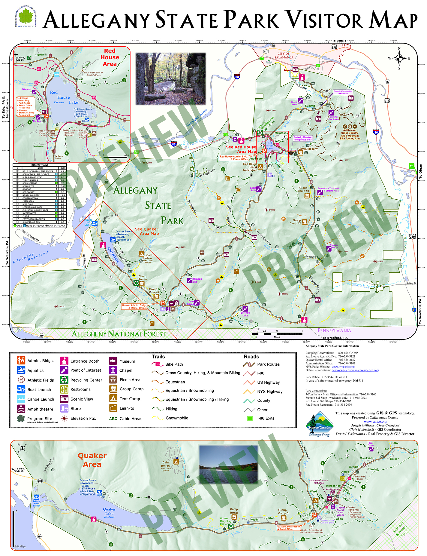 Allegany State Park Visitors Map | Enchanted Mountains of ...