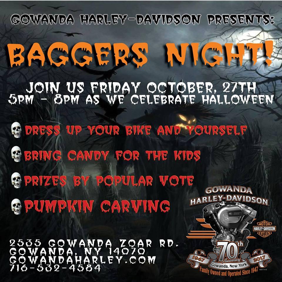 "2017 Halloween ""Baggers"" Night at Gowanda Harley Davidson"