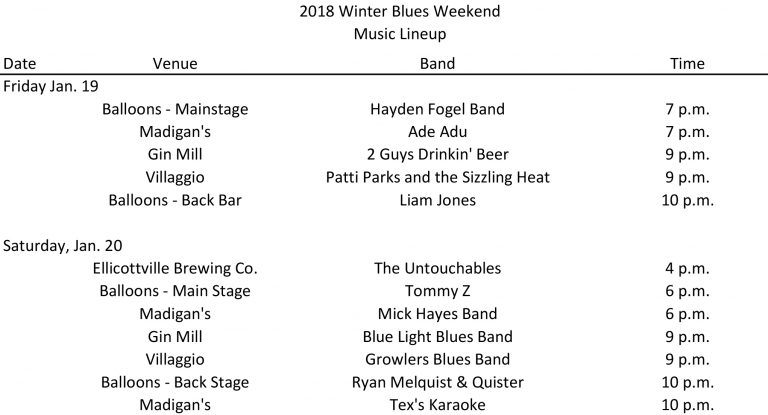 EVl Winter Blues Weekend
