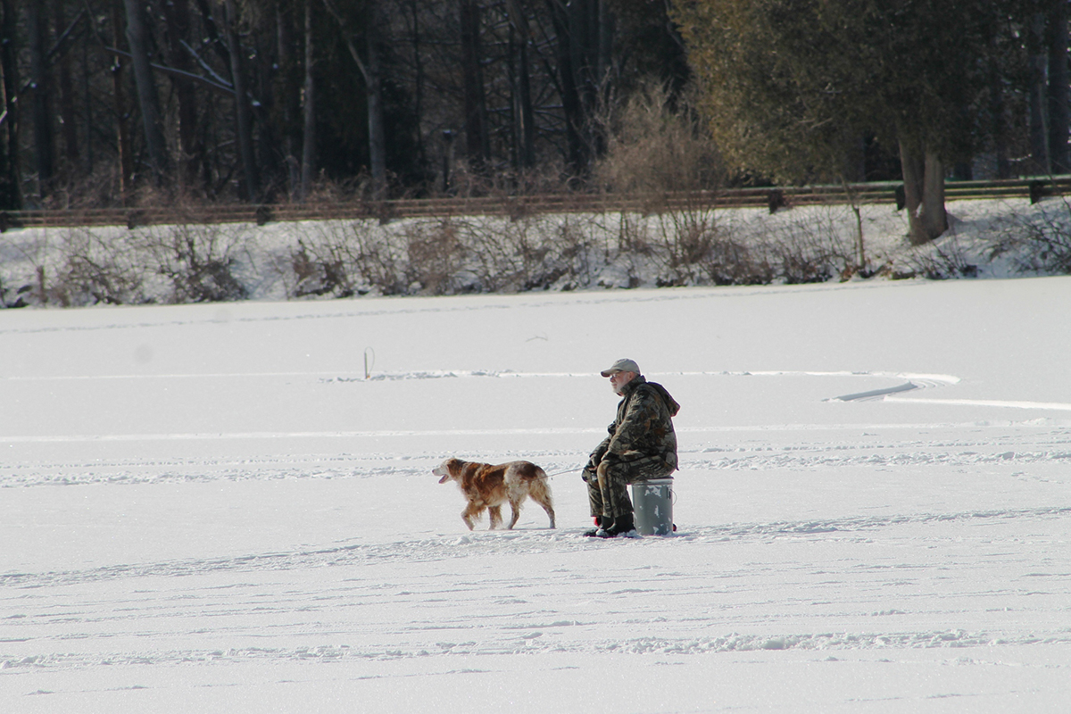 Photo of ice fishing on red house lake enchanted for Red lake ice fishing