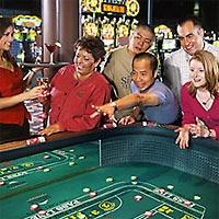Having fun at the Casino