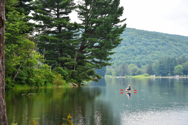 Kayaker at Allegany State Park-Red House