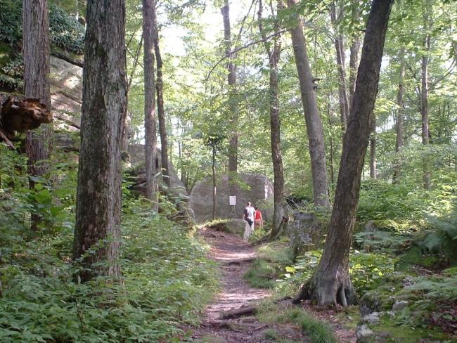 Hiking at Rock City Park