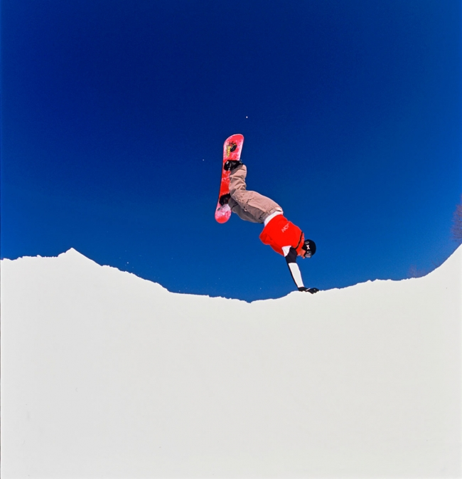 Snowboarder at Holiday Valley