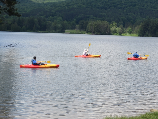 Kayakers at Allegany State Park