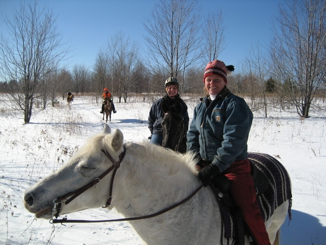 Out for a winter ride near Gentle Thunder Farms