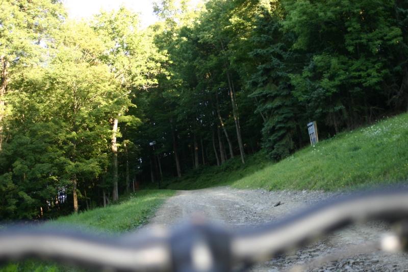 Mountain Biking climb at Holiday Valley
