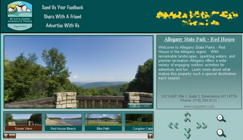 Screenshot of Virtual Park Tours of Allegany State Park