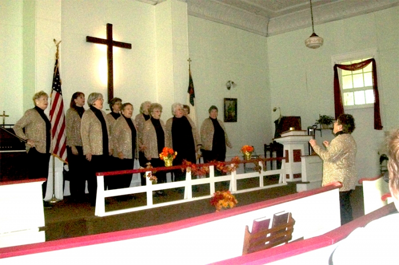 Picture of Sweet Adelines Performed at the Leon Historical 1836 Church