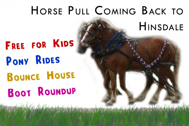 Poster for promoting the Don Kent Memorial Horse Pull