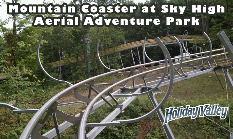 Picture of Mountain Coaster Tracks at Holiday Valley. Credit: Holiday Valley