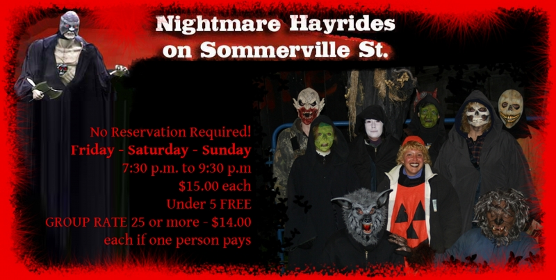 Picture of flyer from the Nightmare Hayrides