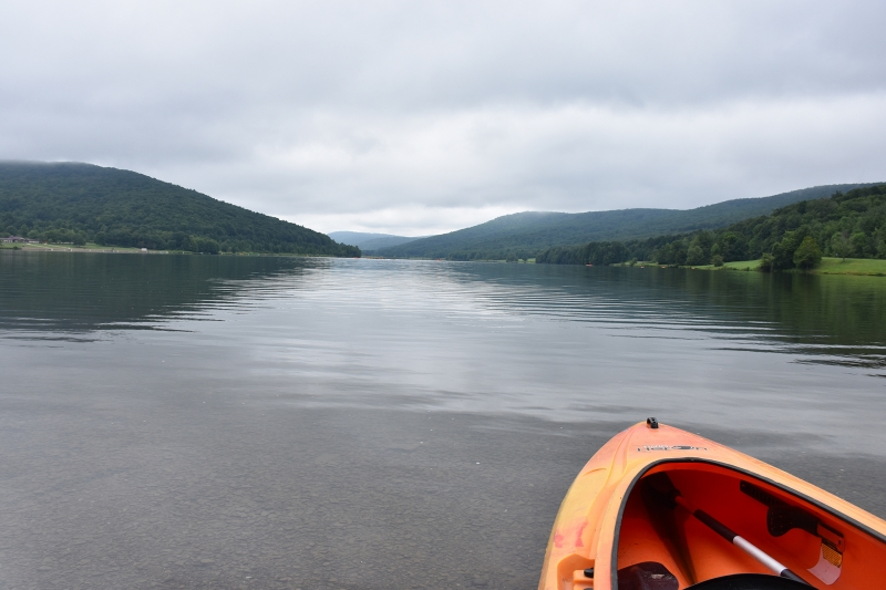 Kayak ready to Launch at Allegany State Park