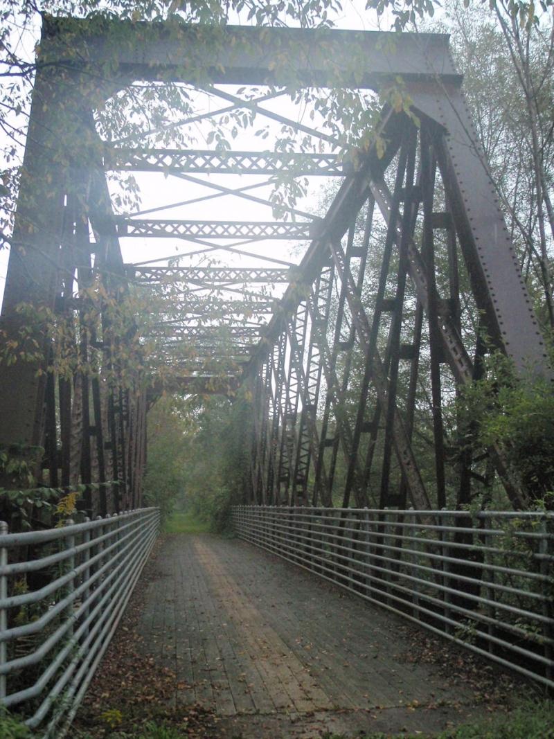 Railroad bridge on the Pat McGee