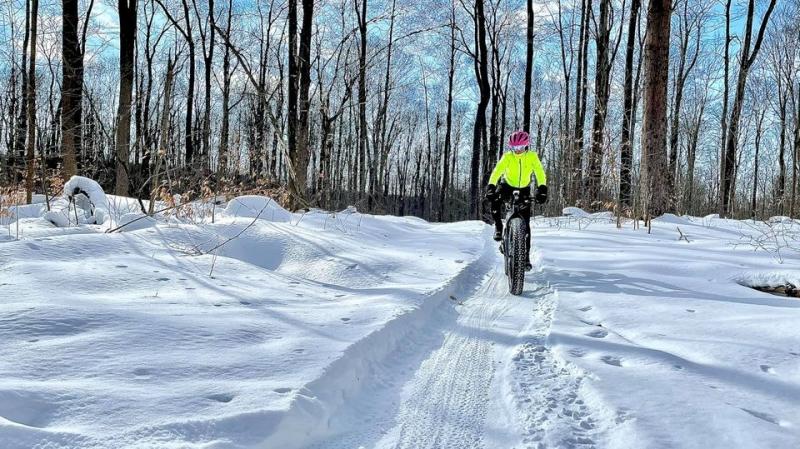Fat Bike rider enjoying the trails