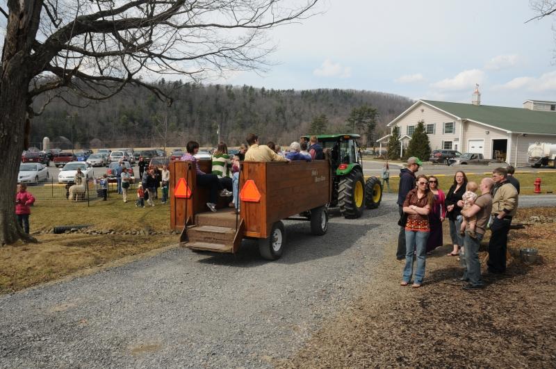 Wagon Ride at Sprague's
