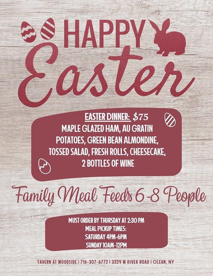 Woodside Tavern Easter Poster