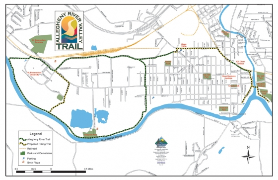 Preview of the Allegheny River Valley Trail Map