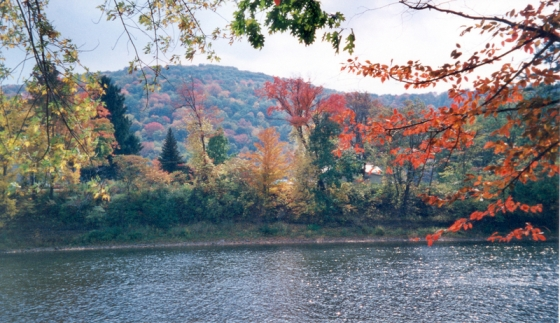 View from the Allegheny River Valley Trail
