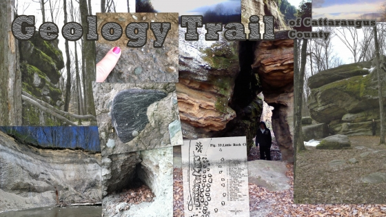 Picture Collage of geologic formations in Cattaraugus County
