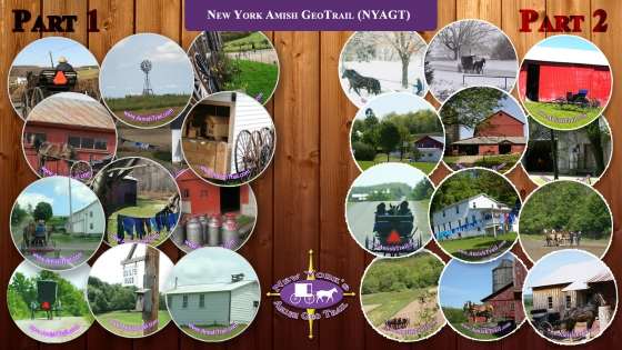 New York's Amish Geo Trail magnetic buttons from Part 1 & Part 2