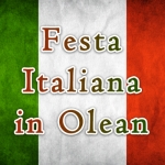 Festa Italiana (Italian Festival) in Olean over the flag of Italy