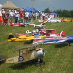 Group of model aircraft at 2014 STARS Rally