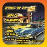 Sept. 2, 2017: 3rd Annual Car Show at NAPA of Salamanca