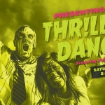 Poster promoting the Thriller Dancers