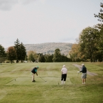 Golfers enjoying the Barltett Course