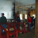 Watch and smell the boiling maple sap