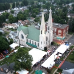 Aerial View of the Church Festival at St. Mary of the Angels in Olean, NY