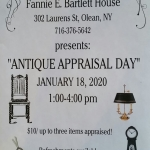 Antique Appraisal Flyer for Bartlett House