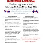 Little Valley Bicentennial 2018