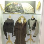 Personal fans and attire from the mid 19th century