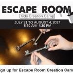 Escape Room Camp at St. Bonaventure
