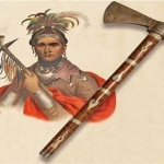 Chief Cornplanter with pipe tomahawk