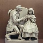"""Courtship in Sleepy Hollow"" sculpture by John Rogers"