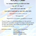 Rocket Camp at the Challenger Learning Center