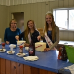 Dairy Ambassador & Dairy Princess serving ice cream during the ice cream social