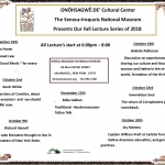 Fall Lecture series at the Seneca Iroquois National Museum 2018