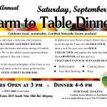 Canticle Farm's Farm to Table Dinner 2018