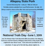 Fat Bike Ride and National Trails Day at Allegany State Park Poster