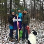 family hike during winter