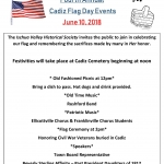 Flag Day Celebration Cadiz Cemetery in Franklinville