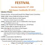 2018 Franklinville Fall Festival